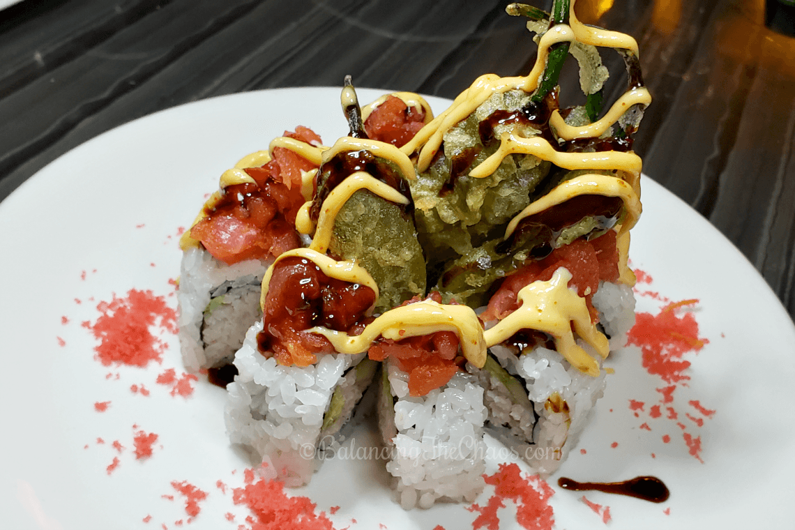 Temecula Fire Roll from Umi Sushi & Oyster Bar at Pechanga Resort Casino