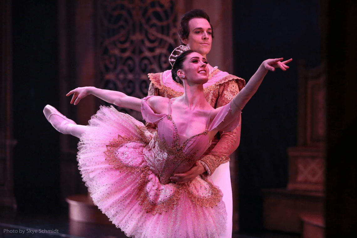 Beckanne Sisk and Chase O Connell as Sugar Plum and Cavalier The Nutcracker Festival Ballet Theater