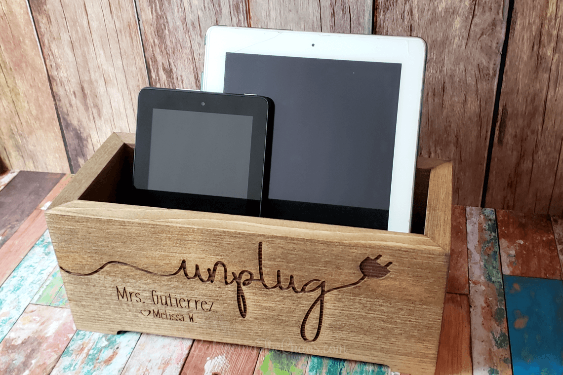 Cades and Birch Personalized Unplug Box