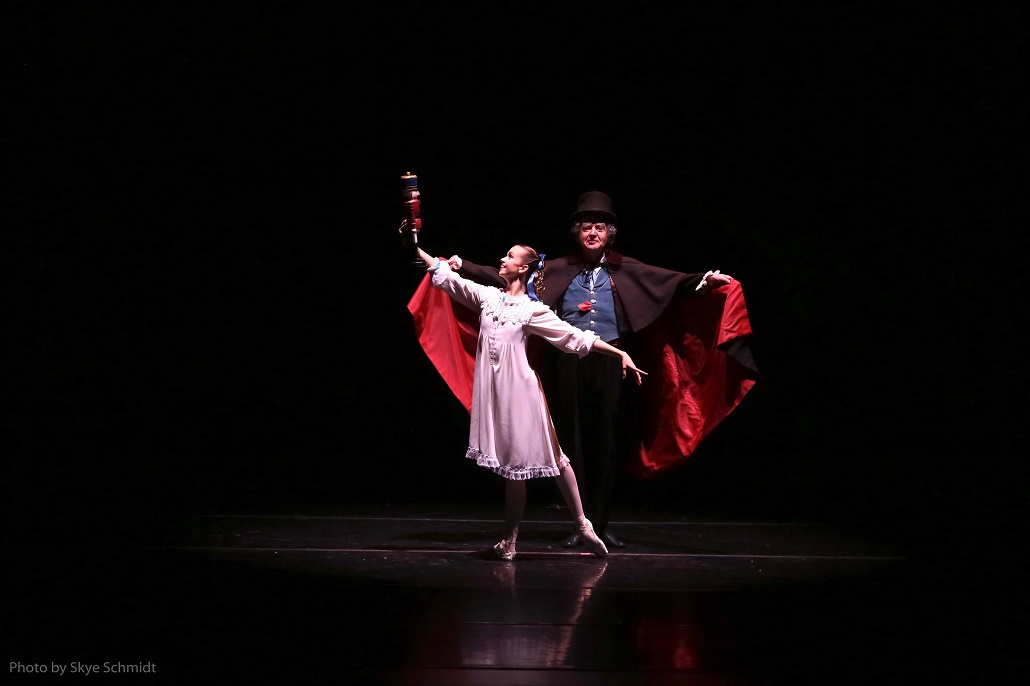 Clara and Drosselmeyer from The Nutcracker Festival Ballet Theater