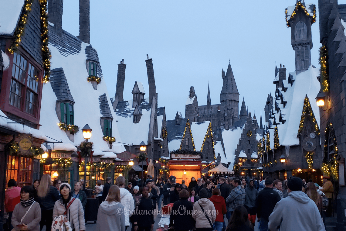 Christmas time in Hogsmeade
