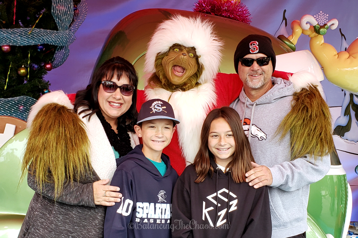 Photos with the Grinch during Grinchmas at Universal Studios Hollywood