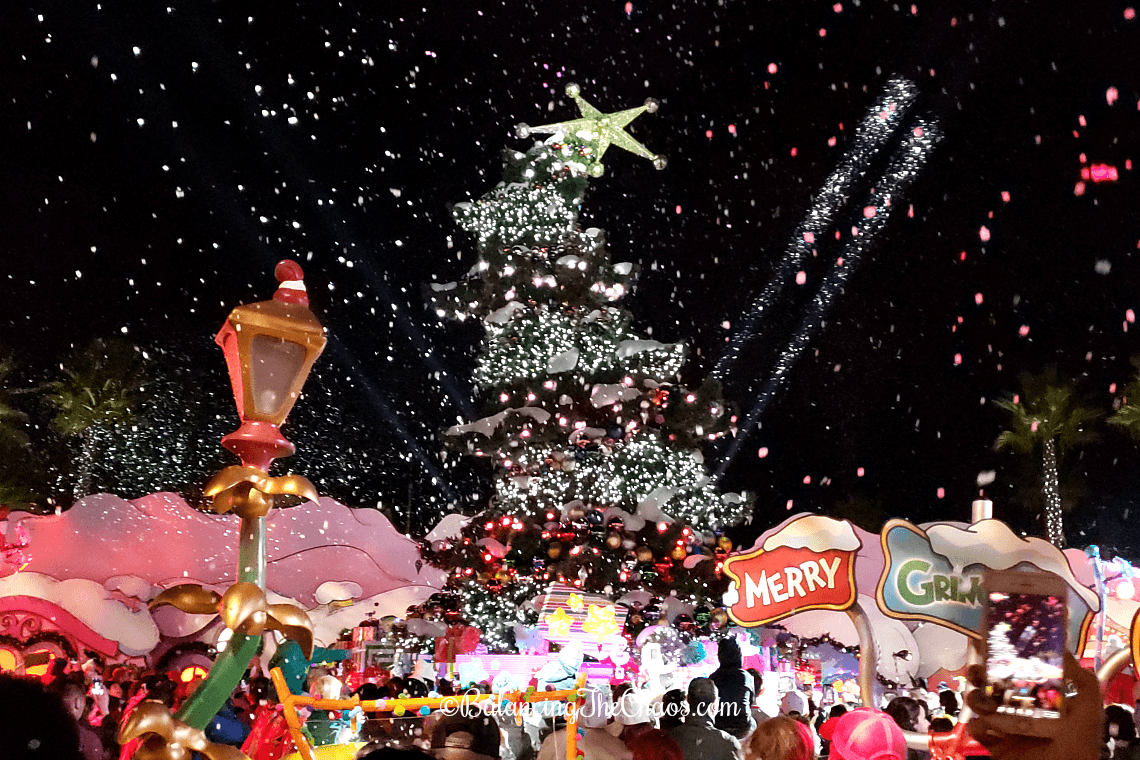 Tree Lighting in WhoVille during Grinchmas Universal Studios Hollywood