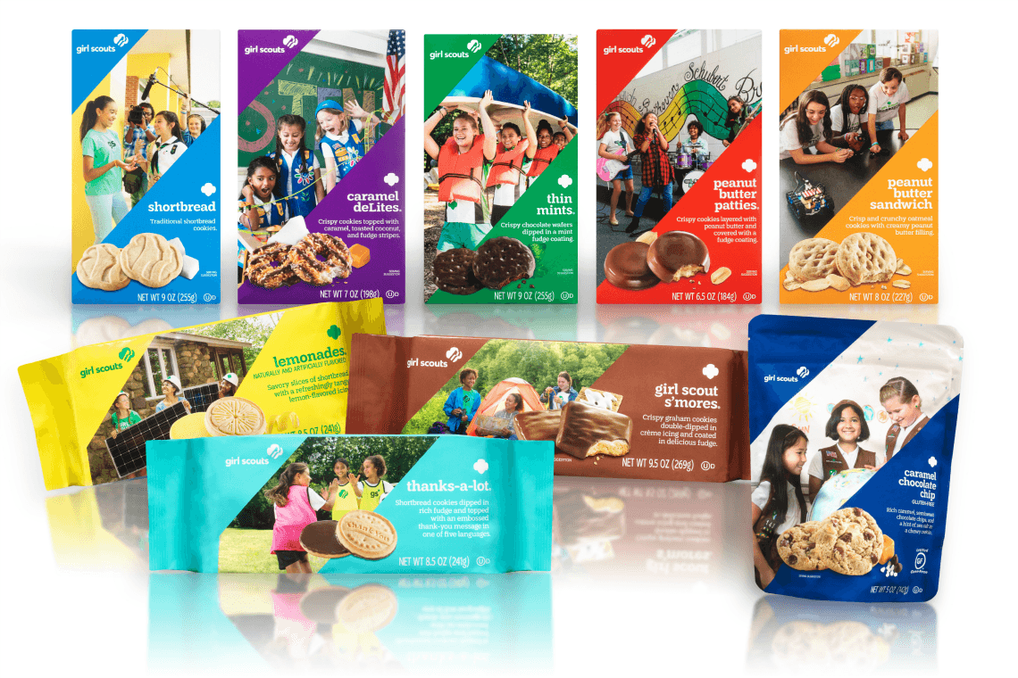 Girl Scout Cookie Season New Packaging with the same great flavor of cookies
