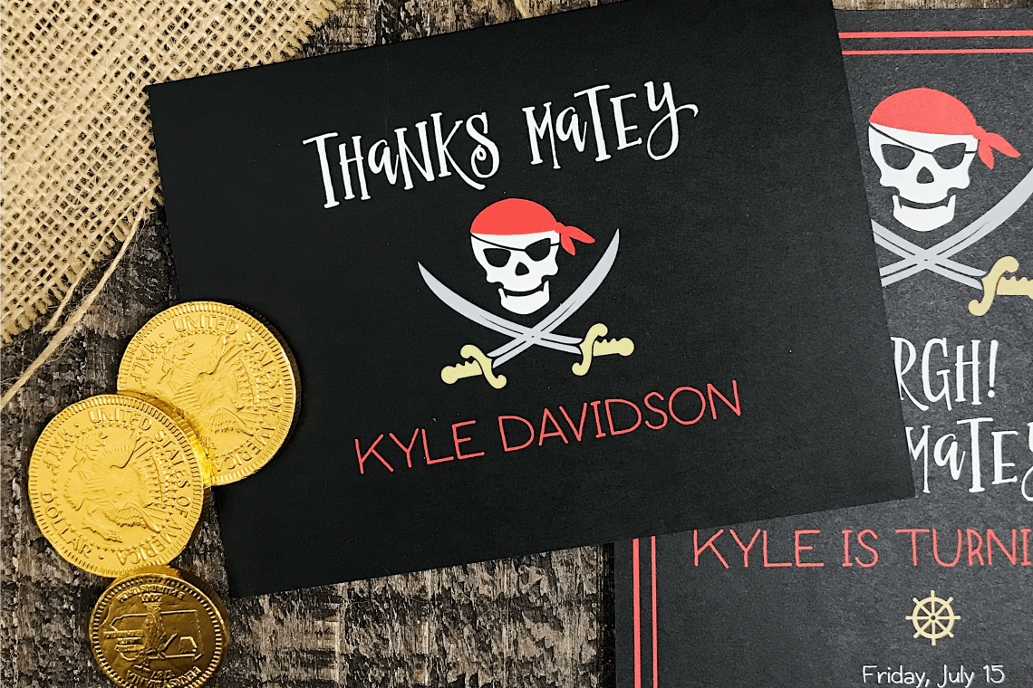 Personalized Thank you cards  Basic Invite