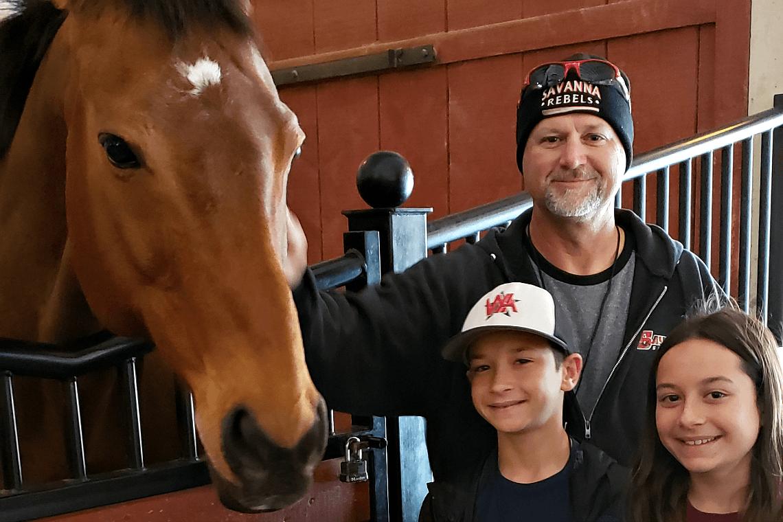 Meeting Horses at Knotts Peanuts Celebration
