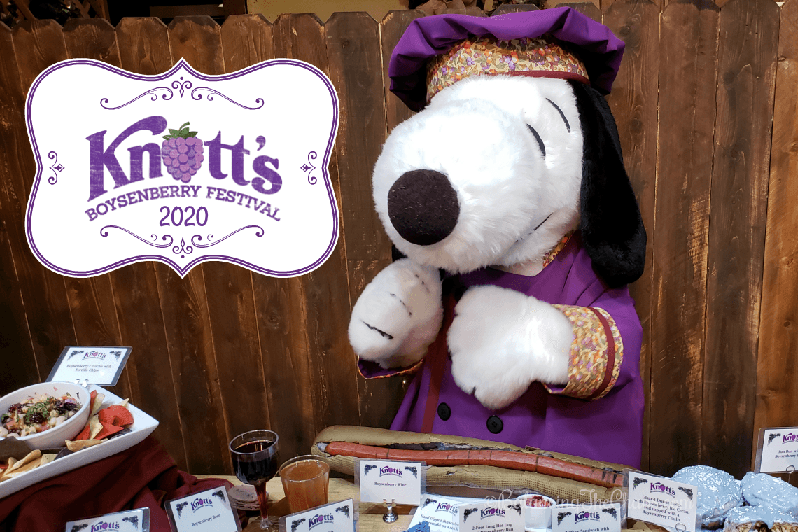 Knotts Boysenberry Festival 2020 with Snoopy