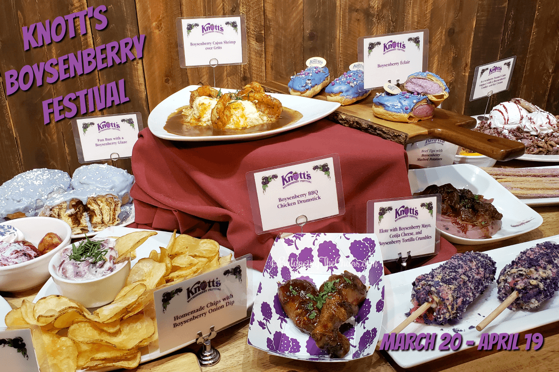 Knotts Boysenberry Festival Foods 2020