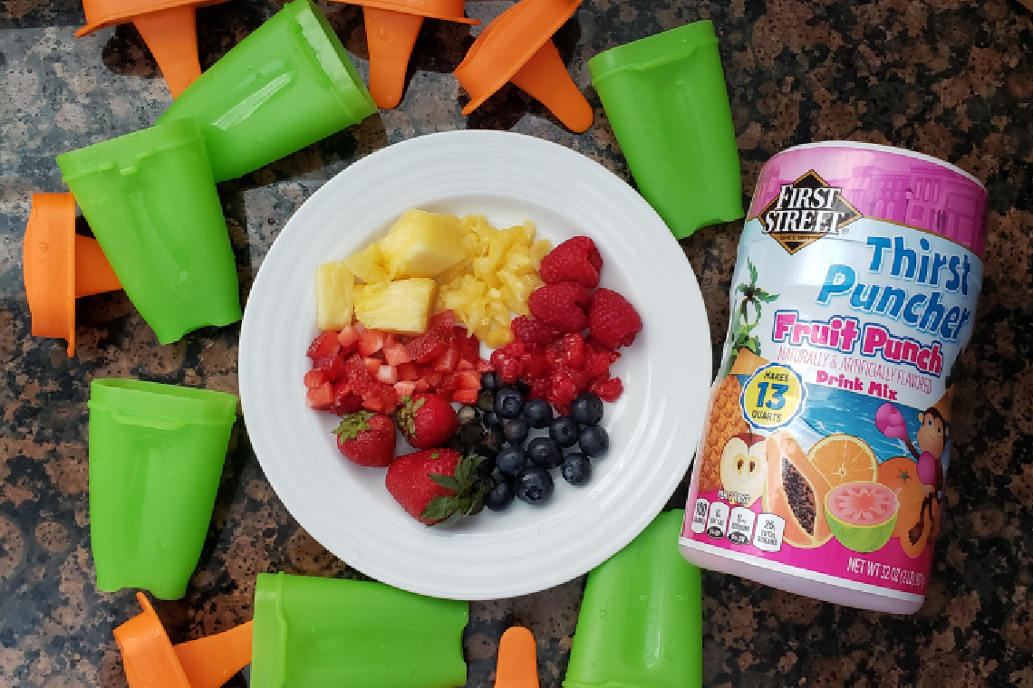 First Street Fruity Fruit Punch Popsicles