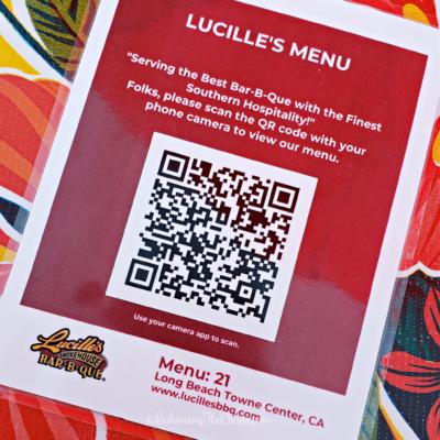 Lucilles QR Code Menu