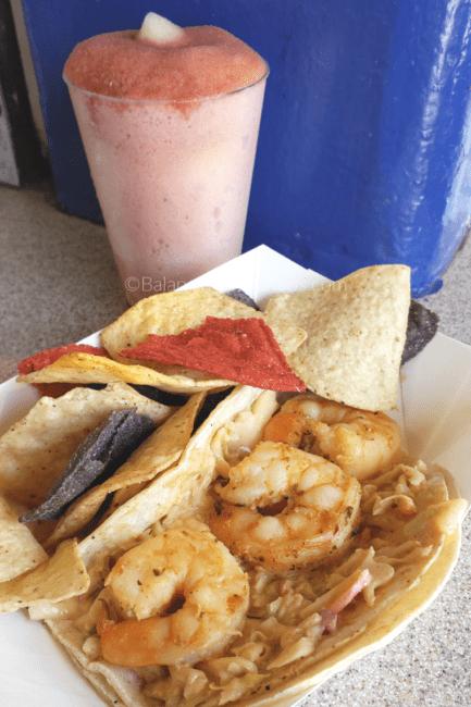 Shrimp Taco with Aioli Slaw at Taste of Knotts