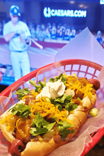 Bacon Chili Dog & Dodger Game