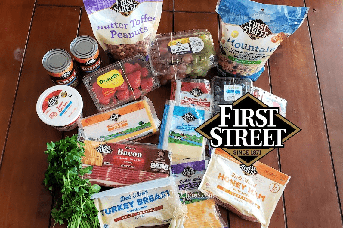 First Street Products from Smart & Final, Chili Dip and Sandwich Charcuterie Board