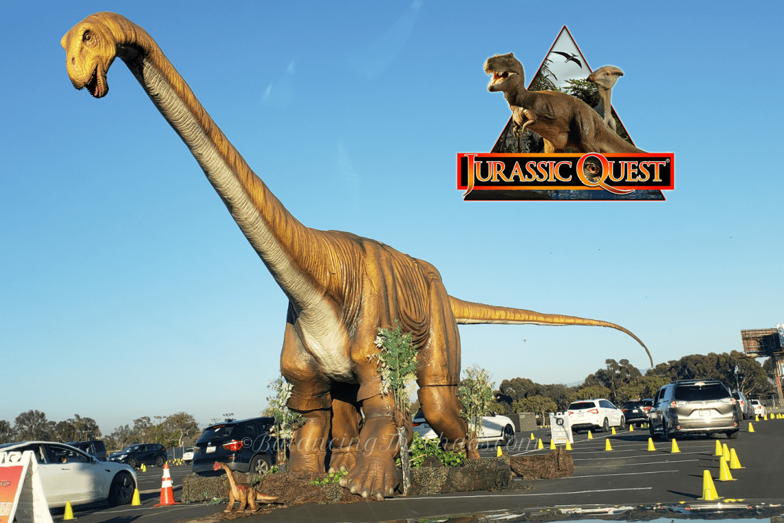 Jurassic Quest drive through in Costa Mesa, CA
