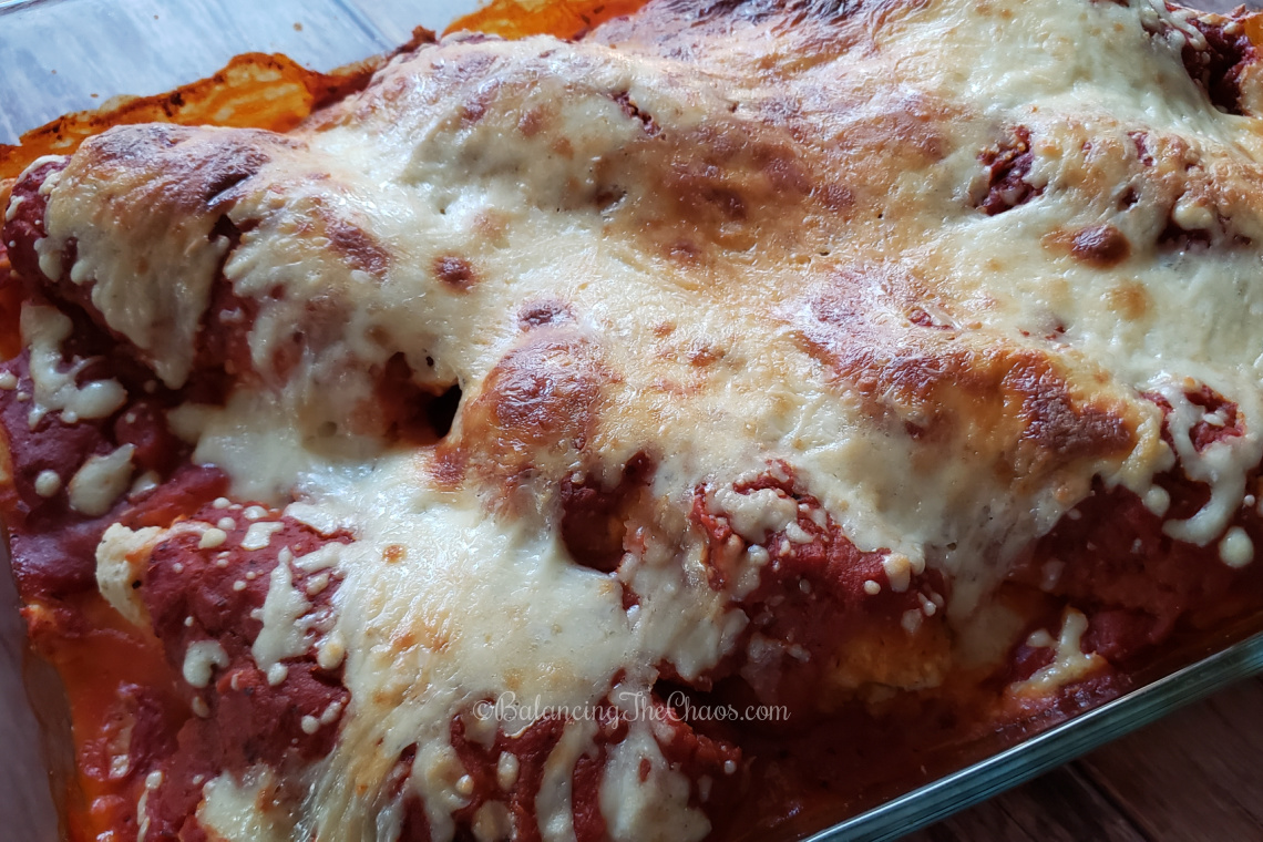 Finished quick and easy chicken parmesan