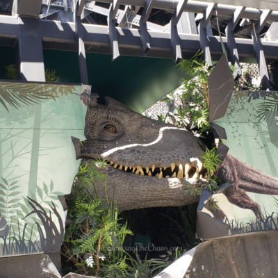 Indominus rex from Jurassic World The Ride at Universal Studios Hollywood